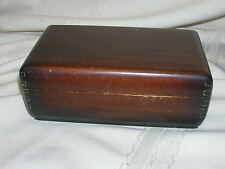 Vintage Buren Watch Box ONLY Wood Box Dovetail