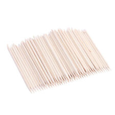 100 x Design Remover Pedicure Manicure Orange Wood Stick Cuticle Pusher Nail Art