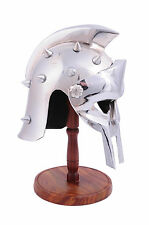 Stunning Historical Scale Gladiator Replica Helmet With Wooden Stand