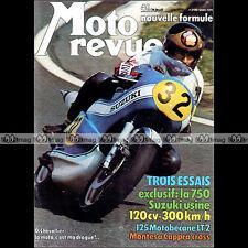 MOTO REVUE N°2198-b ★ Poster WALTER VILLA ★ MOTOBECANE 125 LT SUZUKI TR 750 1974