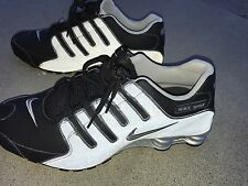 Nike Shox Mens Size 11.5 Running Shoes Black 3M Reflective Silver 501524 024