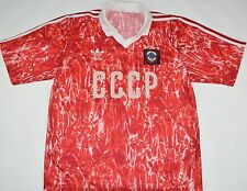 1989-1991 russia/ussr/cccp Adidas Home Football Shirt (talle L)