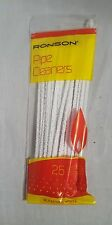 25 RONSON Smoking 150mm PIPE CLEANERS Craft  Art CHENILLE STICKS White