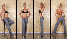 NEW SEXY WOMENS WORK PANTS CLASSIC CUT GREY SZ 6 8 10 12 14 OFFICE/PARTY/EVENING