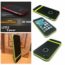 Original Rock Cover Apple iPhone 5S SE Case Hybrid Flex Rigid Tech Rugged  Green