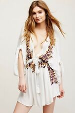 Free People Pretty Pineapple Embroidered Dress Ivory Combo Sz S Gorgeous