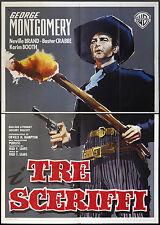 CINEMA-manifesto I TRE SCERIFFI montgomery,brand; FRED F. SEARS