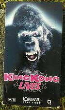 VINTAGE VHS Video Tape Movie KING KONG LIVES Lorimar Home Video Monster Movie