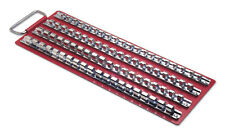 RED METAL Socket Storage Rack Tray + 4 Fixed Rails 1/2  + 3/8 + 1/4 DRIVE