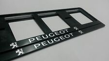 2X PEUGEOT EUROPEAN LICENSE NUMBER PLATE SURROUND FRAME HOLDER.