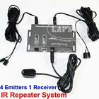 Infrared Remote Extender 4 Emitters 1 Receiver Hidden IR Repeater System Kit AU