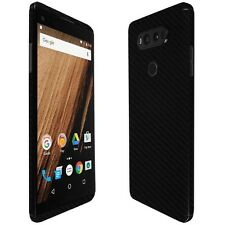 Skinomi Black Carbon Fiber Skin+Clear Screen Protector For LG V20