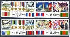 Isle of Man-VE Day- World War II set of 8 mnh-Spitfire-Lancaster-Tanks