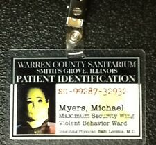 Halloween ID Badge-Michael Myers Warren County Sanitarium prop costume cosplay