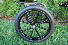 "Pair Horse Cart Motorcycle Tire and Rim 2.50""-16"", 5/8"" or 3/4"" Axle - NIB"