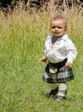 MacKenzie Baby Kilt 4-12 month Scottish Plaid Fantastic Stocking Stuffer