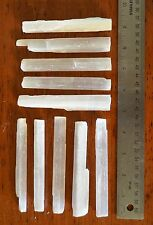 "CL: 20 4-5"" Selenite Wands Sticks Wholesale Healing Crystal Specimen"