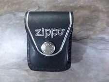 Zippo GENUINE LEATHER BRIQUET POUCH - black (noir) - NEU - 010471