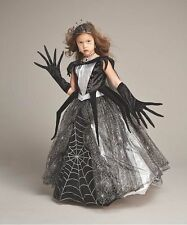 NEW! SPIDER QUEEN 6 Deluxe Chasing Fireflies Girl's Dark Princess Witch Costume