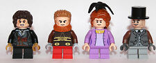 LEGO hobbit Lord of The Ring - 4 HOBBITS citizens of Shire - custom - only LEGO