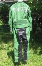 German motorcycle Police Suit - Polizei - leather  jacket +pants sz 42 Large