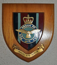 Royal Air Force mess wall plaque shield crest RAF