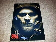 "SONS OF ANARCHY CASTX7 PP SIGNED POSTER 12""X8"" CHARLIE HUNNAM JIMMY SMITS SOA S7"