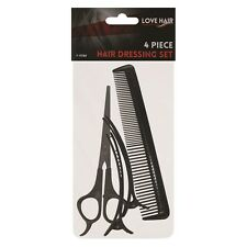 Hair Stylist Scissor 3 Pack Set Thinning Scissors Comb Kit Home Salon Cutting