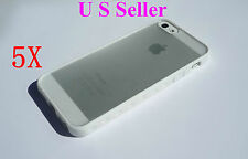 Whole Sale 5X White Slim Matte Hard Case Cover TPU Frame Hybrid For iPhone 5,5s