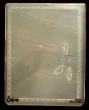 Sizzix Large Embossing Folder FOLKSY POSEY FLOWER FRAME fits Cuttlebug & Wizard