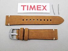 Genuine Timex Expedition tan camel glove leather stitched watch band men's 20mm