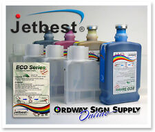 Roland & Mimaki 4 Color Eco-Solvent Compatible 500ml Ink Jetbest Bulk Ink System