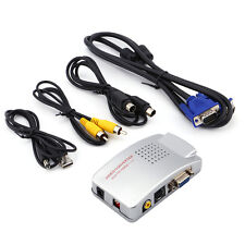 NTSC PAL VGA to TV AV RCA Signal Adapter Converter Video Switch Box for Computer