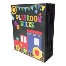 Garçons Train Salle De Jeux Règles Pliable Plaque – Enfants Signe Proverbes