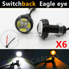 6 LED Amber/White Switchback Eagle Eye Fog Daytime Running Light DRL Head LampX6