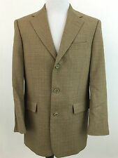 TED BAKER 38R Blazer Wool 3 Button Lined Brown Nordstrom Men's