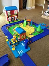 "Toy imagination play little people ""I Play"" village w/house school farm bus car"
