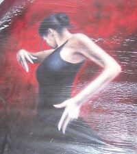 Flamenco salsa tango 20x14 dancer oil painting NOT print/poster Framing Avail