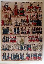PROCESIÓN DEL CORPUS.,litografía  original,ca.1920.
