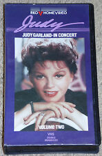 JUDY GARLAND IN CONCERT Vol 1 & 2 VHS Clamshell Case--Rare!  Like New! 2 Tapes!