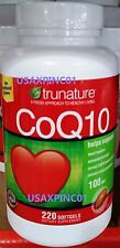 Trunature CoQ10 100mg Coenzyme Q-10 Heart Antioxidant 220 Softgels SHIP FAST