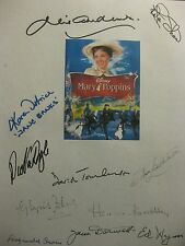 Mary Poppins Signed Film Script X11 Dick Van Dyke Julie Andrews David Tomlinson