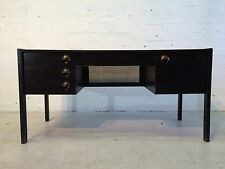 original mid century modern desk with brass pulls wormley probber dunbar black