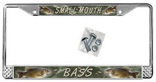 Small Mouth Bass License Plate Frame Gifts Metal Fishing Fish Fisherman TXT