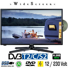 Gelhard GTV-2280 LED 22 Zoll Wide Screen TV DVD DVB/S/S2/T2/C 230 / 12 Volt