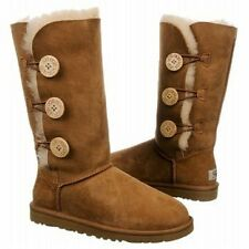 NEW Women's Chestnut UGG Bailey Button Triplet ll Boots 1016227 Size 7 Free Ship