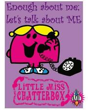 LITTLE MISS CHATTERBOX LARGE RETRO METAL BEDROOM WALL SIGN PLAQUE DINER CAFE