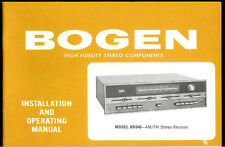 Rare Original Factory Bogen BR340 BR340W AM FM Stereo Receiver Owner's Manual