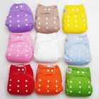 New Diaper + Inserts Adjustable Reusable Lot Baby Washable Cloth Diaper Nappies