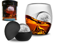 FUSION WHISKY GLASS & ICE BALL WHISKEY DRINK SPHERE WHISKY ON THE ROCKS BPA FREE